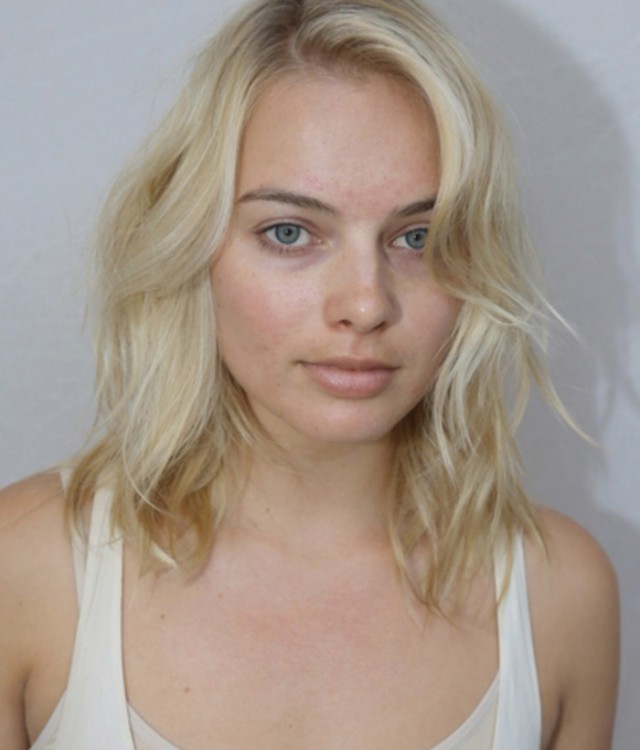 Марго Робби без макияжа