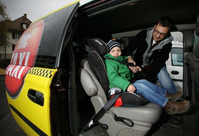 Детское кресло в такси