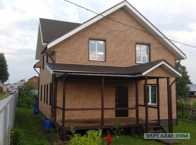 Каркасный дом 200 кв.м в 7 фото.