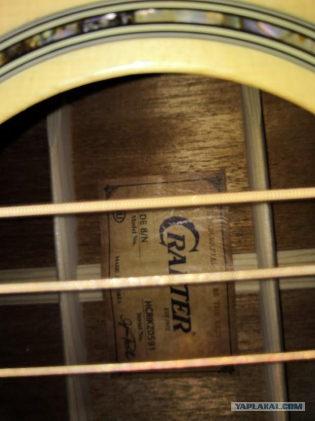 Продам гитару CRAFTER DE 8/N