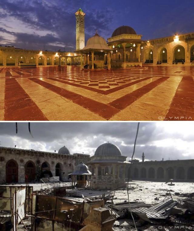 Сирийский город Алеппо до начала войны и сейчас