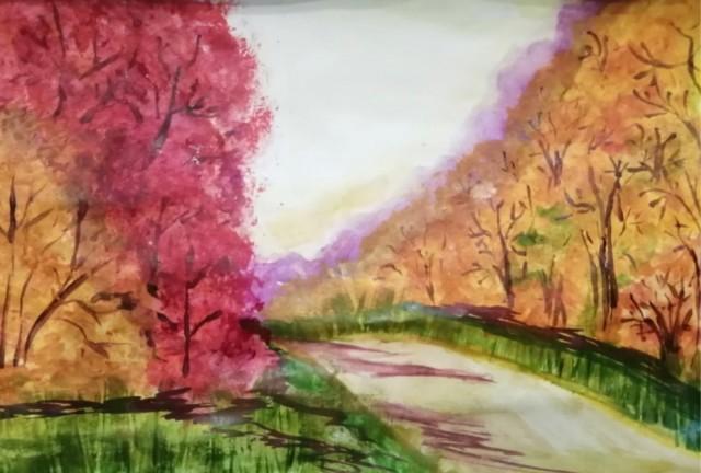 Дочь рисует