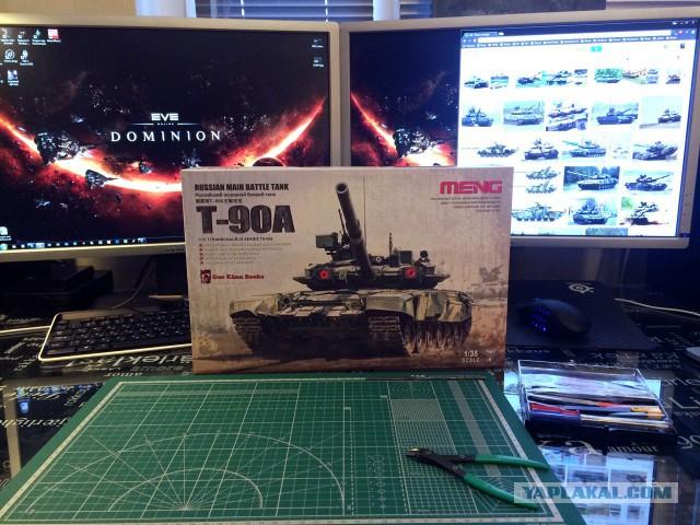Модель танка Т-90А в масштабе 1/35