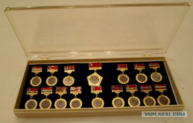 Гербы и флаги республик СССР набор значков