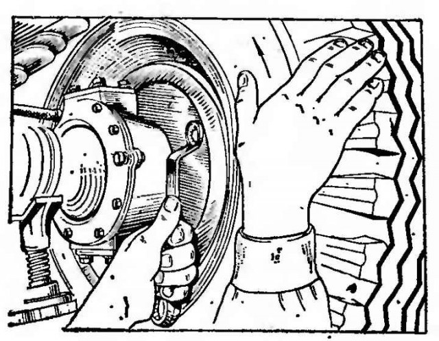 Как развести колодки уаз