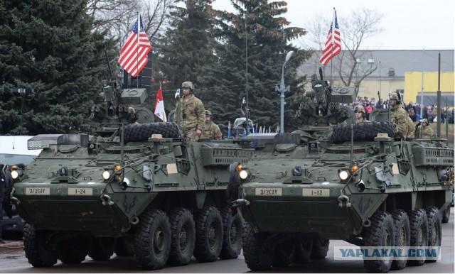 В Нарве прошел военный парад сил обороны Эстонии