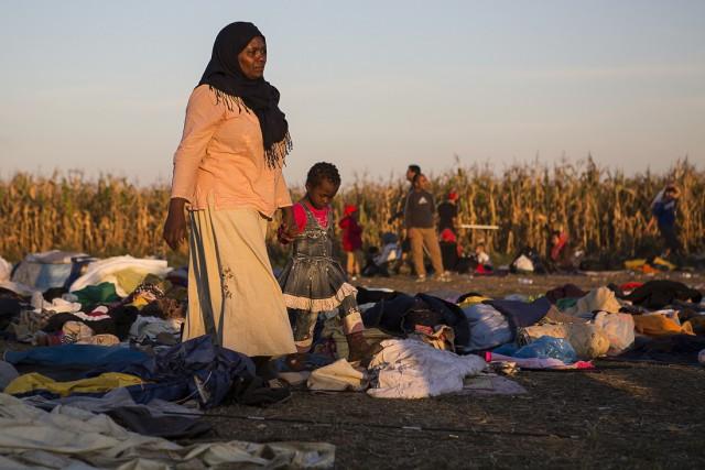 Окно в Европу: кадры из лагеря беженцев. Венгрия
