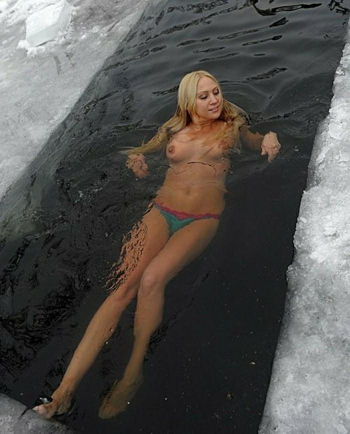 Зимних девушек в ленту
