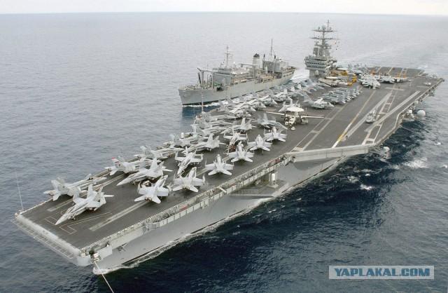 США отправили к берегам Сирии в поддержку к USS Дональд Кук , Авианосную Ударную Группу -  Carrier Strike Group 8