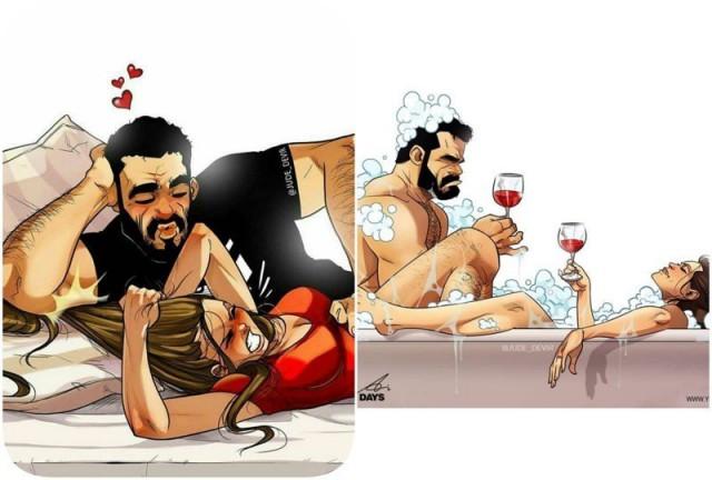 А вы видели эту парочку с картинок вживую? Секрет семейного счастья в новых откровенных комиксах