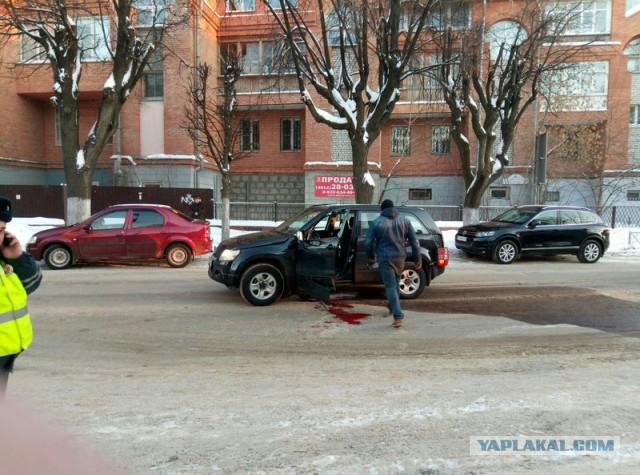 В Рязани взорвали автомобиль с девушкой