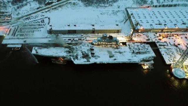 Стоимость ремонта крейсера «Адмирал Кузнецов» превысит 100 млрд рублей