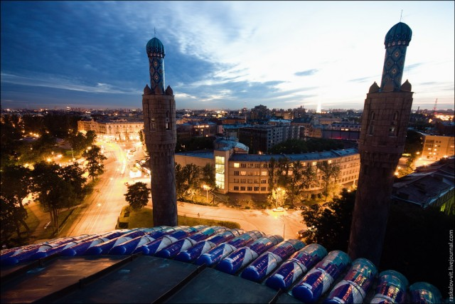 Виды Санкт-Петербурга вечером
