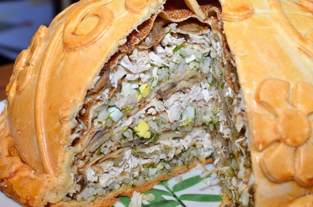 курник с блинами классический рецепт пошаговый с фото