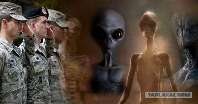 Видео из Пентагона  в котором солдат армии США рассказывает о различных видах пришельцев