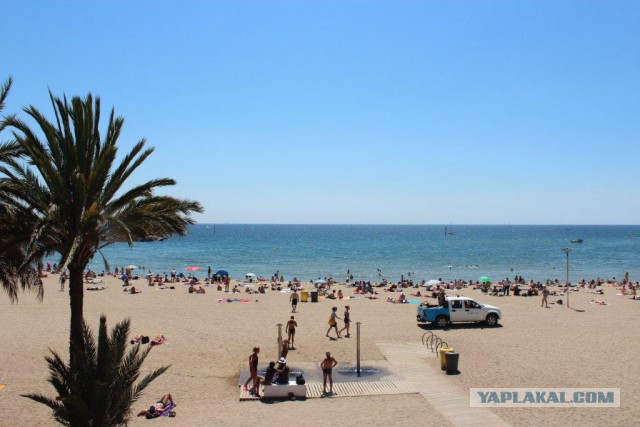 Барселона... пляж Somorrostro