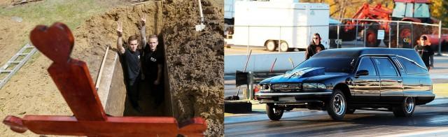 Соревнования по выкапыванию могил на скорость перенесли в Омск, но Приморью оставили дрифт на катафалках