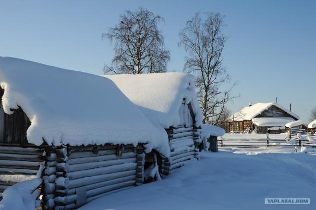 Полярный круг - царство снега и льда.