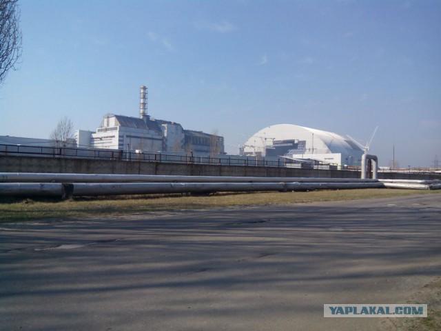 Строительство арки на ЧАЭС