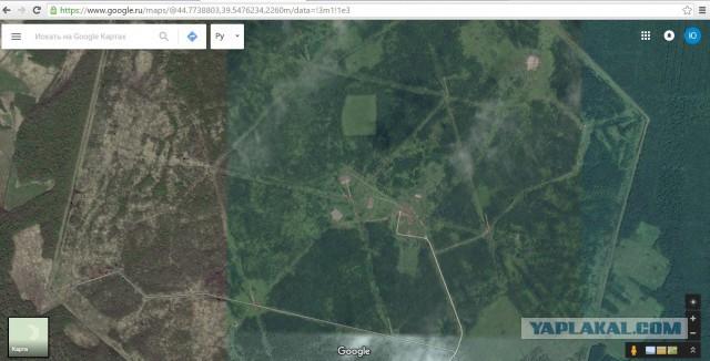 Объект на картах Гугл