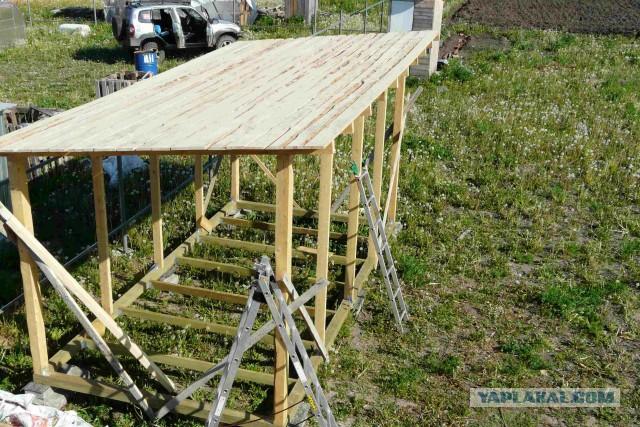 Как я строил кухню-сарай в почти чистом поле