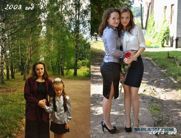 частное фото дочек с мамами