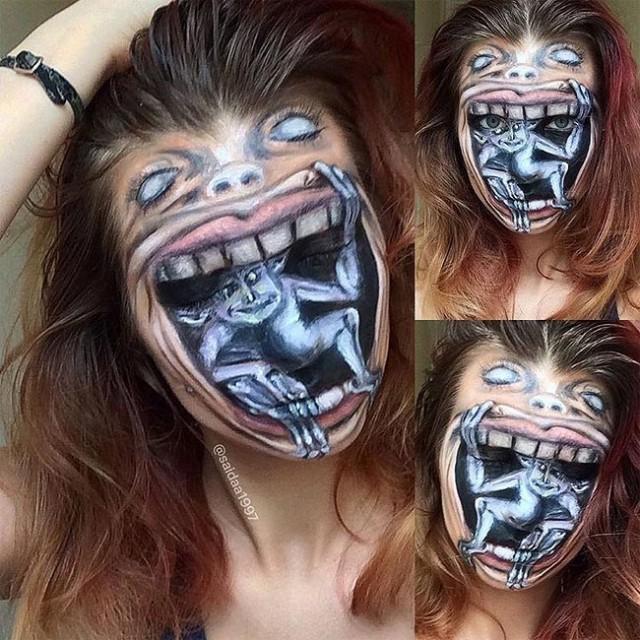 Make Up Wanita Ini Membuat Sebuah Ilusi Menjadi Realita