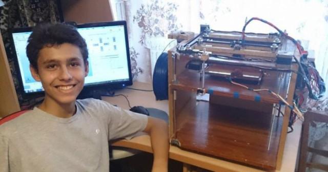 Российский школьник собрал 3D-принтер