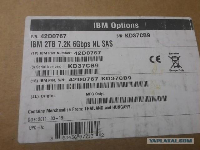 Продам HDD IBM SAS 2 Tb