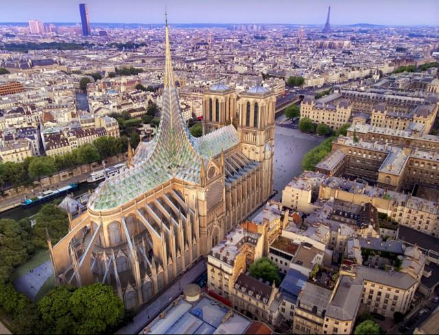 Парижские архитекторы предложили проект реставрации Нотр-Дама