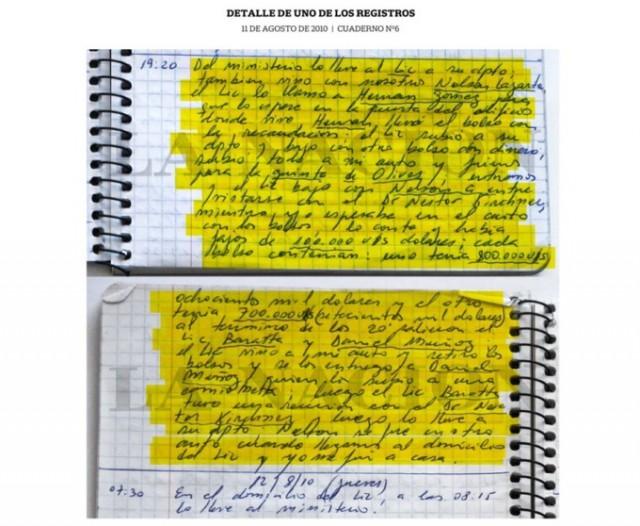 """У него """"все ходы"""" записаны - и 12 человек сели. В Аргентине водитель чиновников несколько лет записывал все развезённые взятки"""