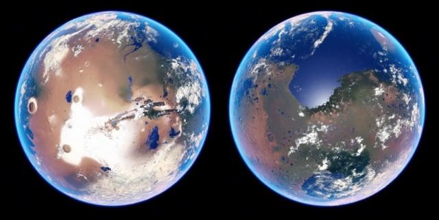 Удар астероидом сделает Марс пригодным для жизни