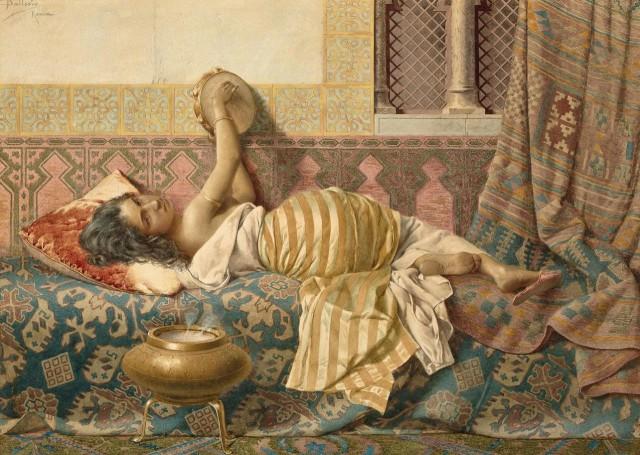 Средневековый гарем на картинах