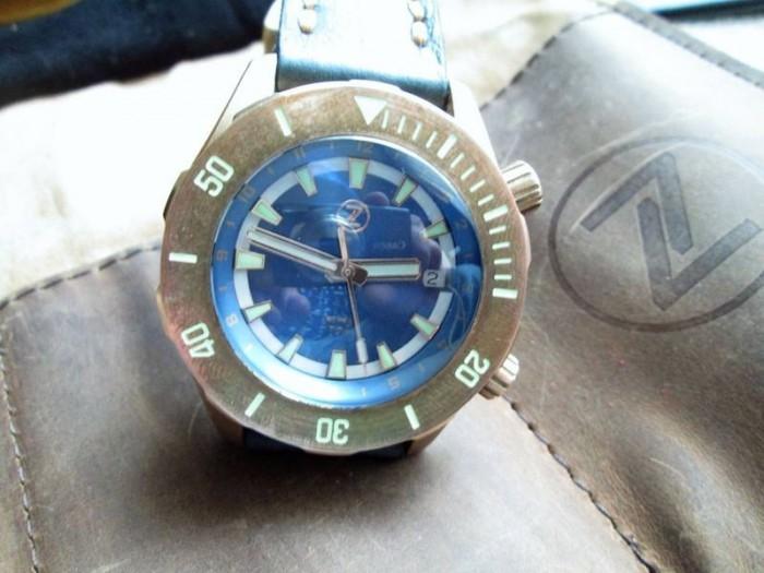 Часы ZELOS ABYSS 2 3000M BRONZE : BLUE DIAL