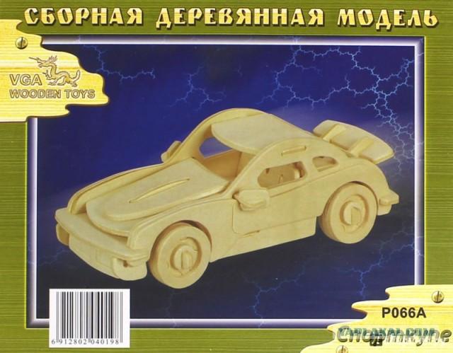"""Сборная деревянная модель """"Порше Спорткупе"""""""