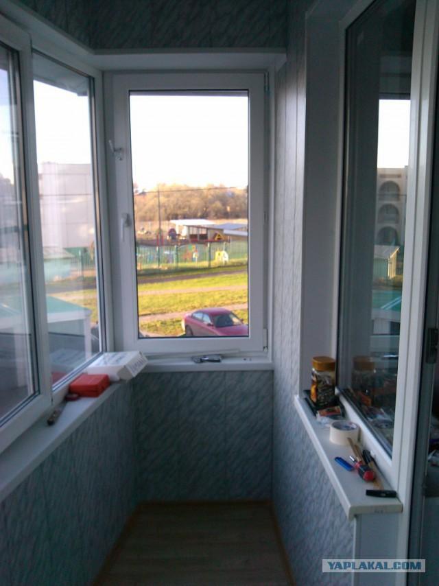 Мой вариант утепления балкона.