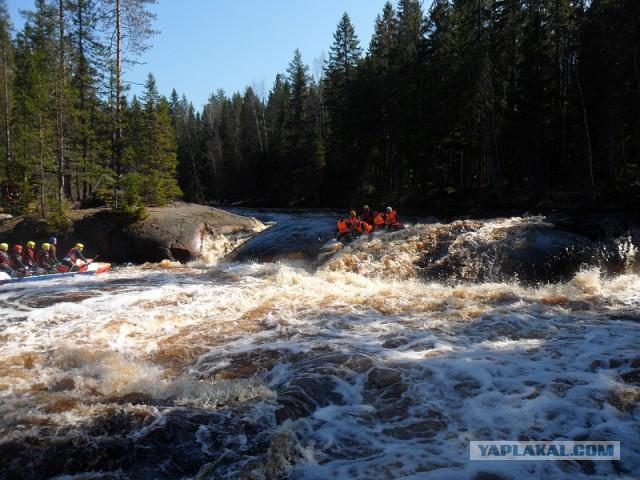 Река Уксунйоки (Укса). Карелия. Сплав по большой воде. Фотоотчет