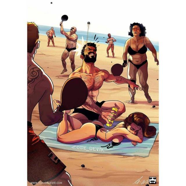 Израильский художник иллюстрирует прелести семейной жизни