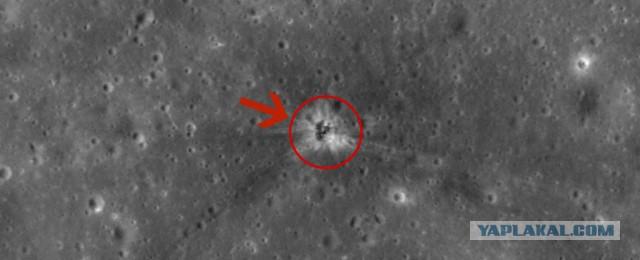 На Луне нашли место падения ускорителя Apollo 16