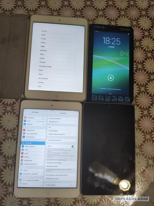 Продам 4 стареньких планшета и Gopro 3