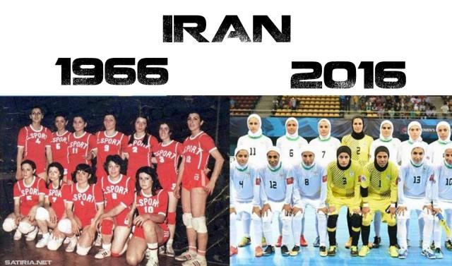 Спортсменки в Иране тогда и сейчас