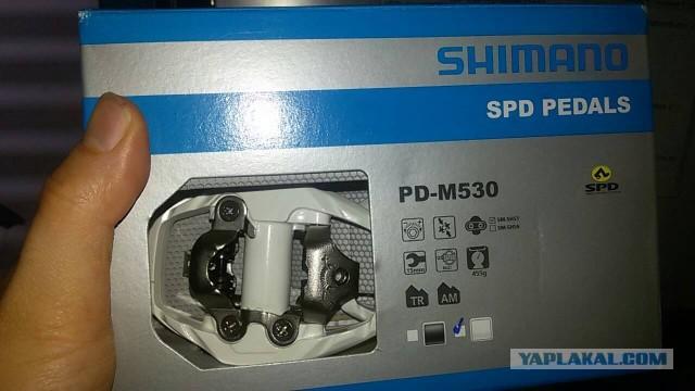 Контактные педали shimano PD-M530 SPD Trail(Москва)