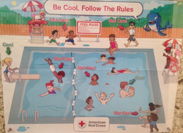 Красный Крест извинился за расистские плакаты о правилах поведения в бассейне