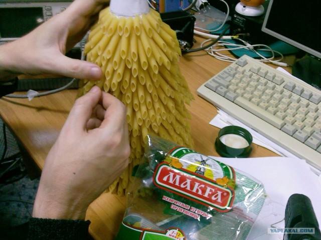 Как сделать своими руками елку из макарон