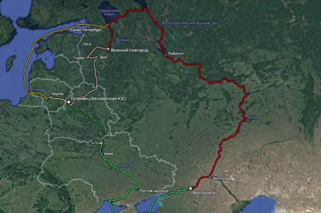 Транспортировка корпуса ядерного реактора через Великий Новгород