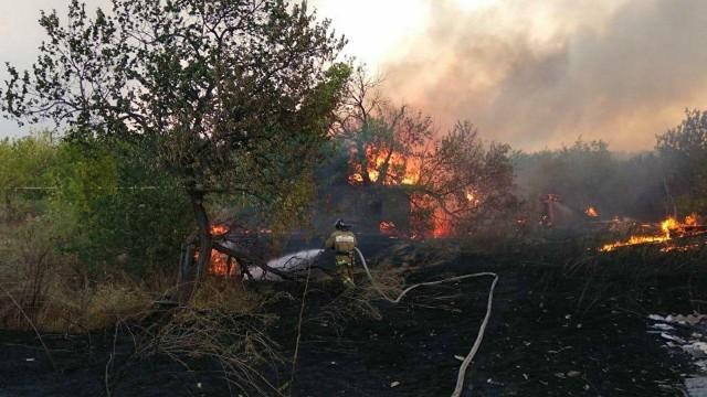 В Ростовской области полыхают природные пожары