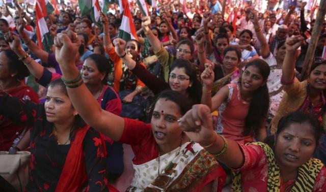 Крупнейшая забастовка в истории человечества проходит в Индии