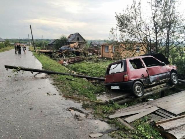 Смерч в Верхнекамском районе прошелся по деревне