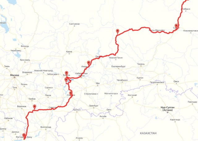 Путешествие с КрСевера на юг 2020