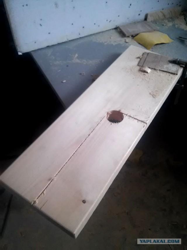 Деревянная лестница с гусиным шагом